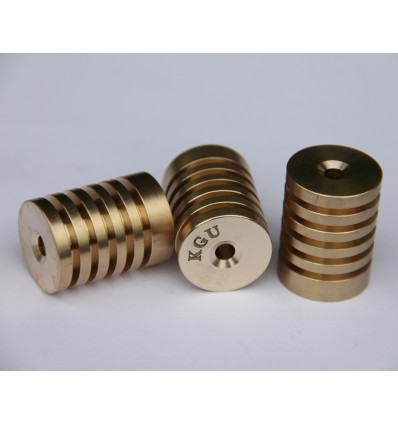 KGU Brass D-BCRaR173 Radiator bottom caps BACH (Raw Brass)